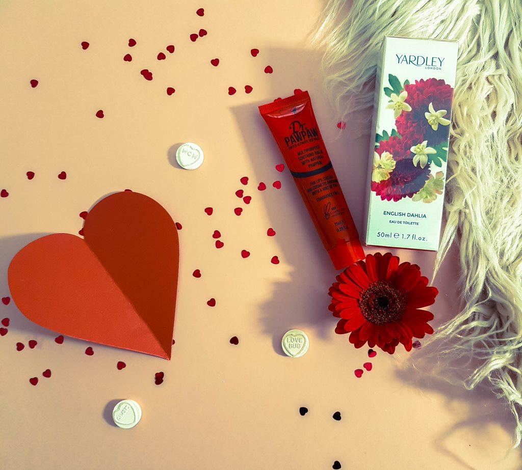 perfume and lipbalm